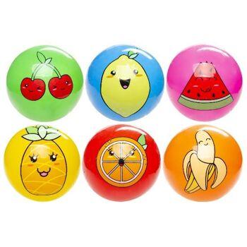 21-4873, Fussball Früchtemotiv 23 cm, Fußball, Strandball, Wasserball, Spielball, Fruchtmotiv