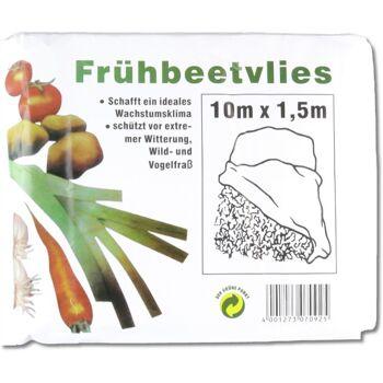 28-070925, Frühbeetvlies, Größe: 10 x 1,5 Meter, schafft ideales Wachstumsklima, schützt vor extremer Witterung