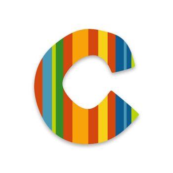 Restposten farbige selbstklebende Holzbuchstaben