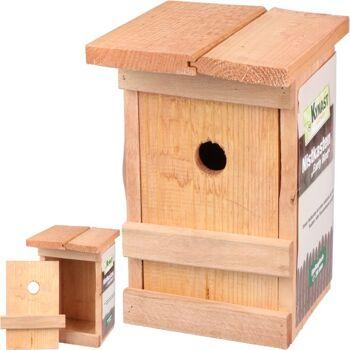 28-102058, Vogel Nistkasten aus Holz, Vogelhaus, Vogelfutterhaus