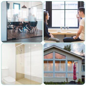 Fenster Milchglasfolie 90x200cm - selbstklebend mit statischer Haftung