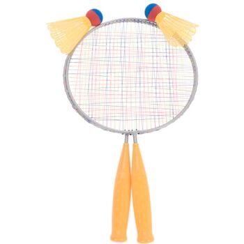 28-401862, Federballset, Badminton 4-teilig, 2 Schläger, 2 Federbälle, Federball, Tennis