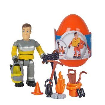 Simba 109251027 - Feuerwehrmann Sam Einzelfigur mit Zubehör