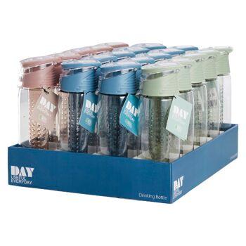 28-752996, Trinkflasche 700 ml, mit Einsatz/ Infuser, mit Zug- und Druckverschluss