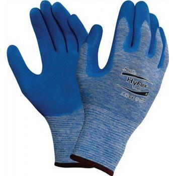 Handschuhe EN388 Kat.II HyFlex 11-920 Gr.9 Nylon mit Nitril blau, 12 Paar