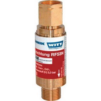 Sicherungseinrichtung RF53N G1/4 RH O2/Druckluft/Gas nach TRAC 207