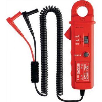 Stromzangenadapter 1 A-300 A Gleich-/Wechselstr.mit Batterie/Messl./Tasche CC 3