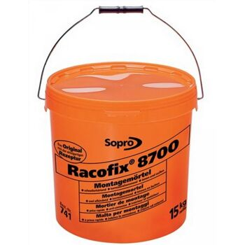 Montagemörtel Racofix 8700 Inhalt 15kg oranger Eimer Verarbeitungszeit 3-5 Min.