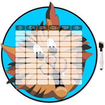 Stundenplan aus Holz in 5 verschiedenen Motiven
