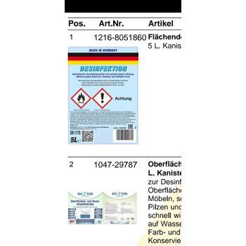 Flächen Desinfektion Desinfektionsmittel 5000 ml Flasche ab Lager Deutschland !!!