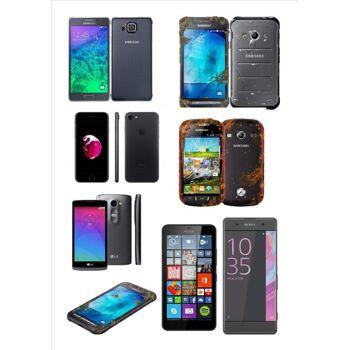Folgende Marken Smartphone von Apple, Nokia, Samsung, LG, Sony sind in dem Posten enthalten