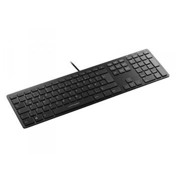 LC Power LC-KEY-5B-ALU Tastatur USB QWERTZ Deutsch Schwarz LC-KEY-5B-ALU