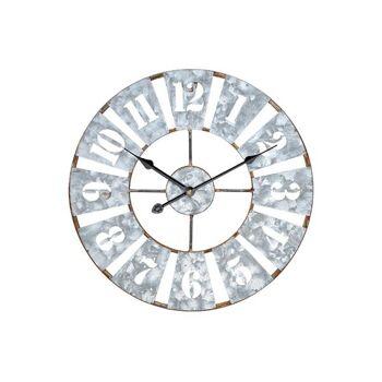 Wanduhr aus Metall Grau (B/H/T) 40x40x4cm