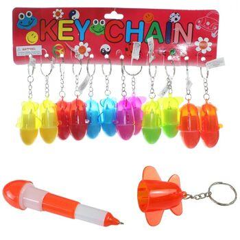 27-36224, Flugzeug mit Stift an Schlüsselanhänger, Schlüsselkette, auch ideal als Giveaway