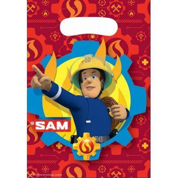 8 Stück Feuerwehrmann Sam Partytüten, 1 Pack