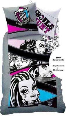 Bettwäsche Set Monster High Ghouls Bettbezug 140x200cm +Kissenbezug 63x63 cm