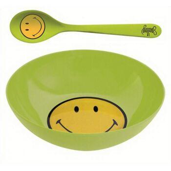 Smiley Frühstücksset grün Ø 17 cm, 1 Stück