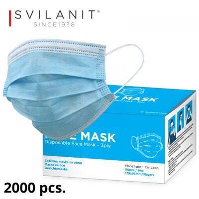 SVILANIT Geschichtsmaske, 3-lagig mit CE, EN149;2001 + A1:2009 Zertifikaten