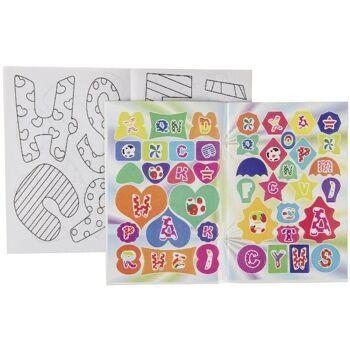 21-6853, Malblock mit Stickern, Schreibblock, Schreibheft, Malbuch+++++++