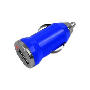 Blauer KFZ Adapter universal mit USB 12 Volt DC Anschluss, 5 Watt