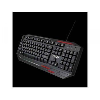 ASUS Sagaris GK100 Tastatur USB  Rot 90XB03R0-BKB030