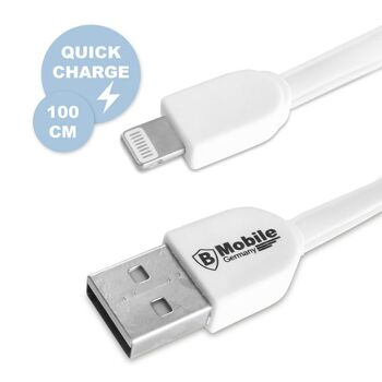Highspeed USB Ladekabel ab iPhone 5 in Weiß, 100 cm, BMobile Germany