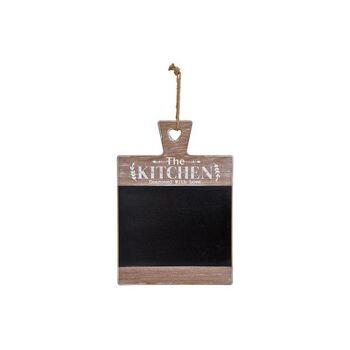 Memotafel The Kitchen aus Holz Schwarz (B/H/T) 32x43x2cm
