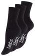 Unisex BAMBUS Socken mit nahtloser Spitze in schwarz