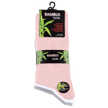 Damen BAMBUS Socken mit nahtloser Spitze in Pastelltönen
