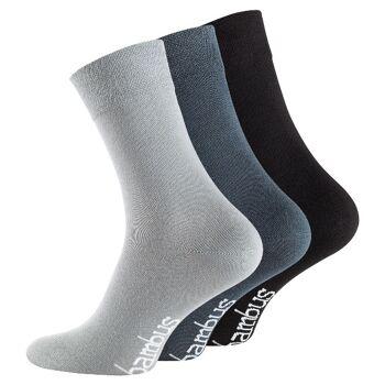 Unisex BAMBUS Socken mit nahtloser Spitze in Grautönen