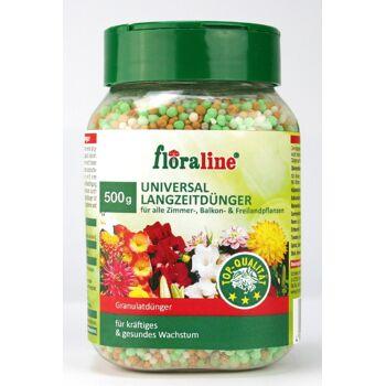12-406510, floraline Langzeitdünger  500gr, für alle Zimmer-, Balkon- und Freilandpflanzen
