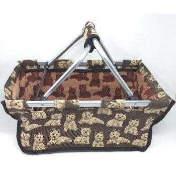 12-590180, Einkaufskorb Hundemotiv klappbar, Einkaufstasche, Strandtasche, Picknickkorb, Picknicktasche+++++++