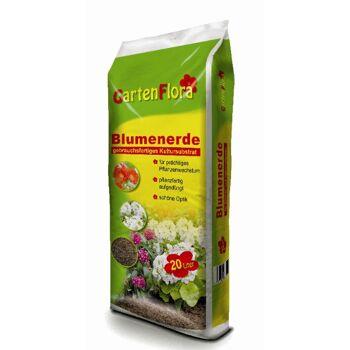 12-66752, Blumenerde Qualitäts   20 Liter Gartenflora, gebrauchsfertig