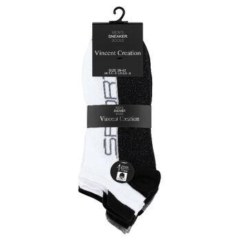 Vincent Creation® zweifarbige Herren Sneaker Socken mit Hochferse