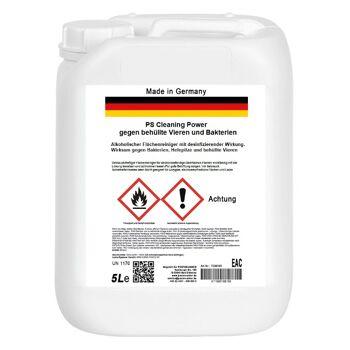 Alkoholischer Flächenreiniger mit desinfizierender Wirkung gegen Bakterien Hefepilze und behüllte Vieren 5 Liter Flächendesinfektion