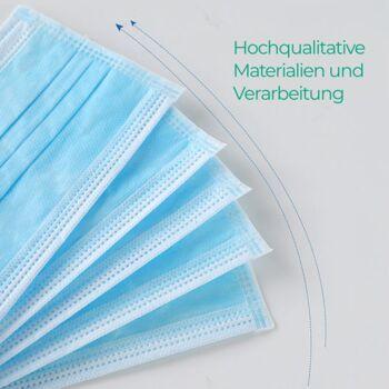 Atemschutz Masken  Blau Gummibänder 3-lagig Surgical Face Mask, 3PLY Typ1