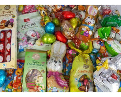 Schokolade - großes Sortiment verschiedener Sorten ( saisonal: Oster-/Weihnachts-/Ganzjährig-Ware) von 1,50 bis 6,50 €/kg