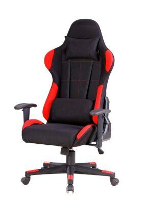 Schreibtischstuhl Speed Schwarz-Rot Stoff