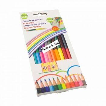 28-319476, Buntstifte 12er Pack, doppelseitig, 2 Farben je Stift, Malstifte