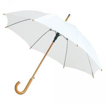 Regenschirm AC Stockschirm Schirm Automatik Windproof Fiberglas Holzstock Holz Sturmschirm OKTAGON®