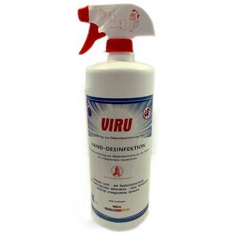 VIRU Hand-und Oberflächen Desinfektion 1 Liter Sprühflasche