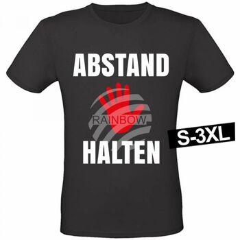 Motiv T-Shirt Shirt Funshirt 'Abstand halten'