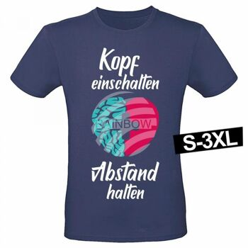 Motiv T-Shirt Shirt Kopf einschalten Abstand