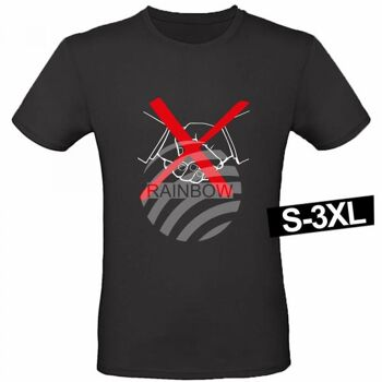 Motiv T-Shirt Shirt No Handshake Schwarz