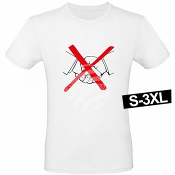 Motiv T-Shirt Shirt No Handshake Weiß
