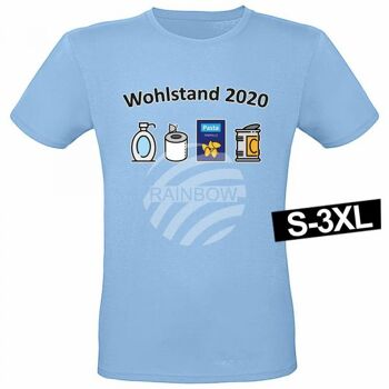 Motiv T-Shirt Shirt Wohlstand 2020 Hellblau
