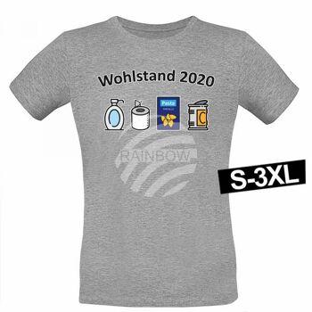 Motiv T-Shirt Shirt Wohlstand 2020 Hellgrau