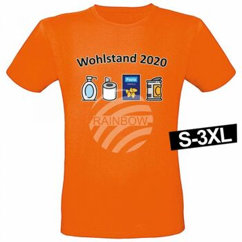 Motiv T-Shirt Shirt Wohlstand 2020 Orange