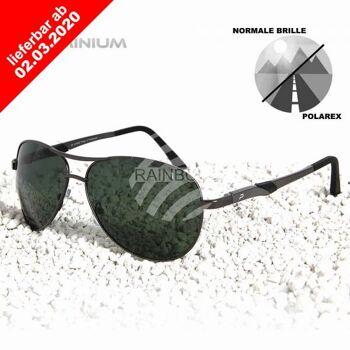 POLAREX Sonnenbrille Pilotenbrille polarisiert Alu