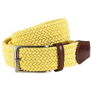Stretchflechtgürtel casual gelb